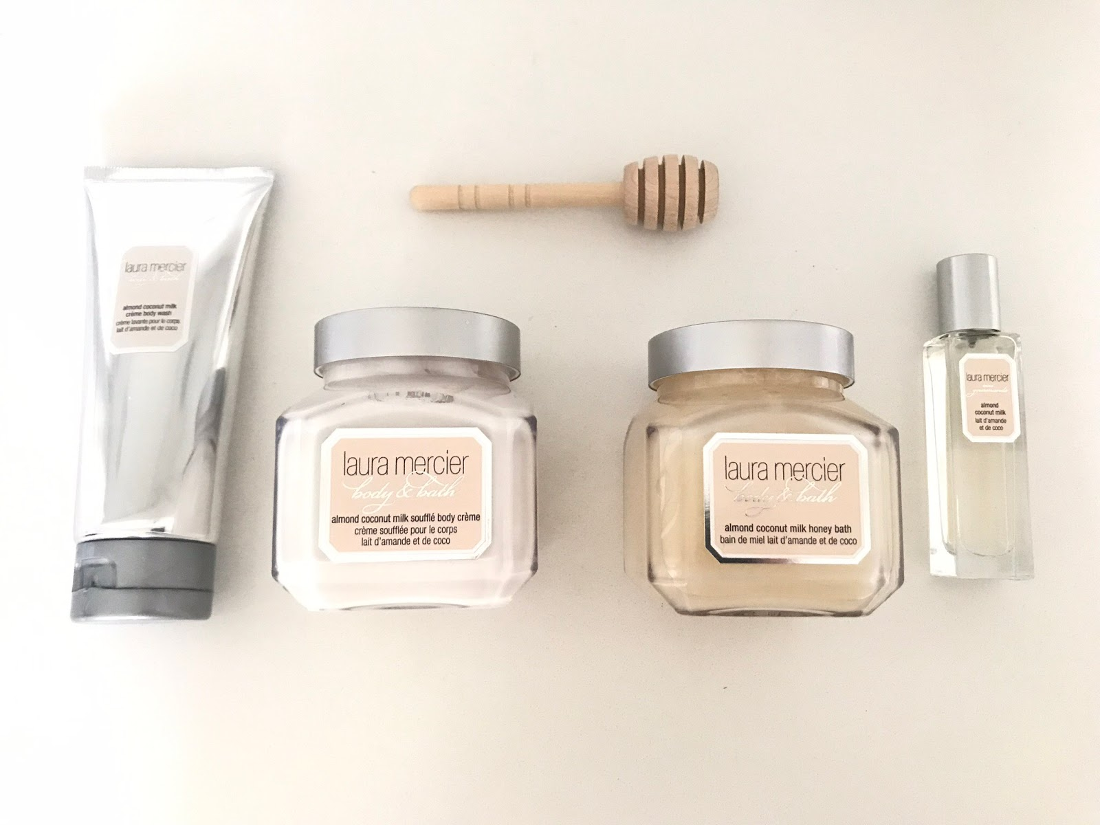 Laura Mercier Almond and Coconut Milk Bath and Body Products