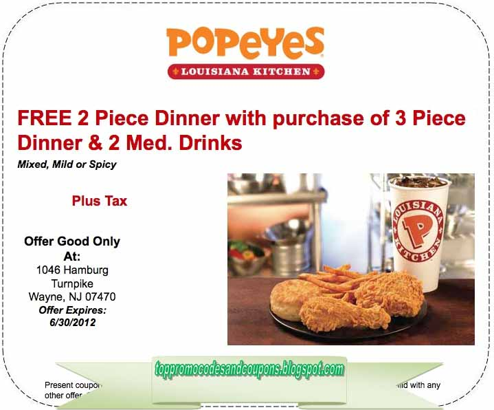 photograph regarding Popeyes Coupon Printable titled Popeyes Rooster promos : Hotline resorts