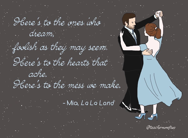 Here's to the Ones Who Dream - La La Land - Sketch by @teachermomoftwo