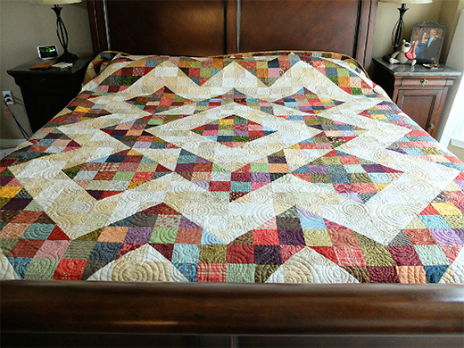 Split 9 Patch Quilt By cjtinkle, The Pattern Designed by Bonnie K. Hunter from Quiltville