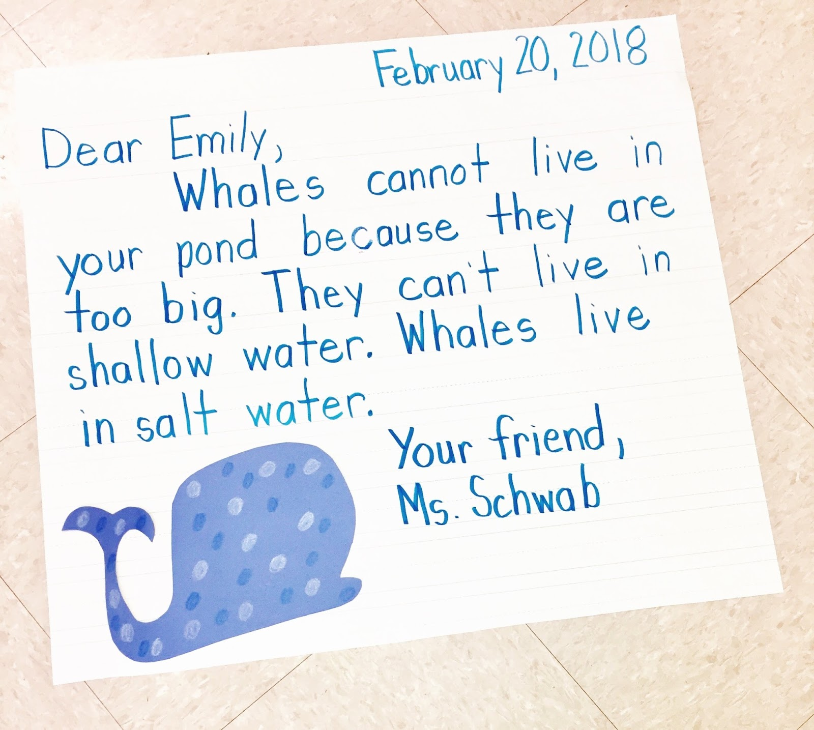 First grade blog firstieland first grade letter writing after this it was time for the students to write their own letter to emily its important not to leave your model on the board during independent writing spiritdancerdesigns Choice Image