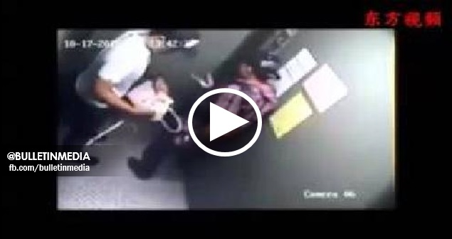 [VIDEO] PERGHH!! NGERI!!  Wanita Di Ragut Dengan Kejam Di Dalam Lif. MOHON SEBARKAN!!