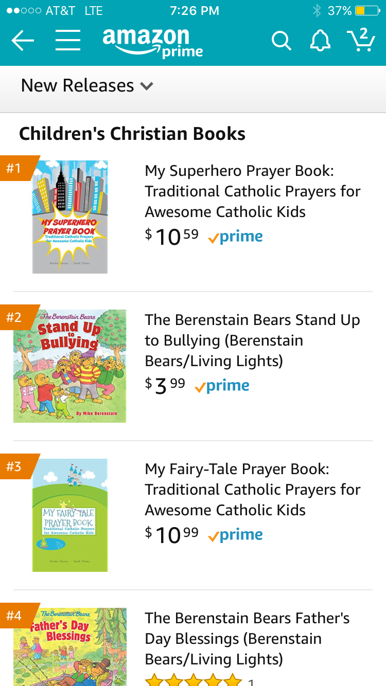 Catholic stuff saturday a lego catechism giveaway and odds and my sister sent me this screen grab of my little prayer books at numbers one and three of all childrens christian books on amazon the berenstain bears are fandeluxe Gallery