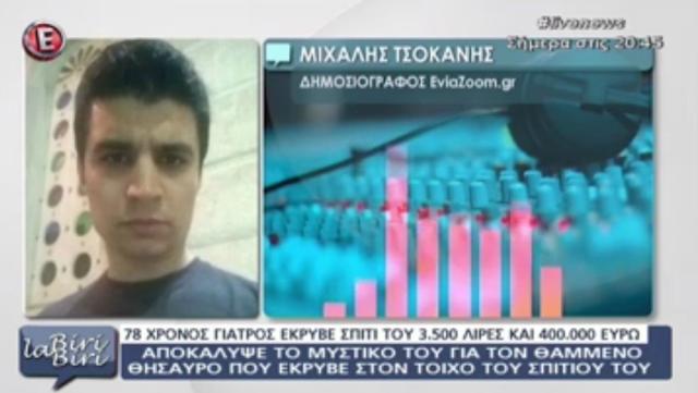 Ο δημοσιογράφος Μιχάλης Τσοκάνης στην εκπομπή της Χρίστινας Λαμπίρη (ΒΙΝΤΕΟ)