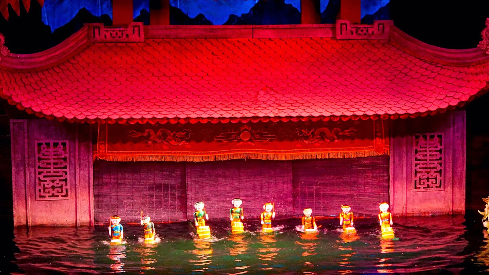 There are plenty of water puppet shows in Vietnam, but Thang Long is supposedly one of the more famous ones. Ticket prices vary from 60,000 dong (back row seat) to 100,000 dong (front row seat). If you want a bit more comfort, pay a bit more for front row seats, you'll thank me later