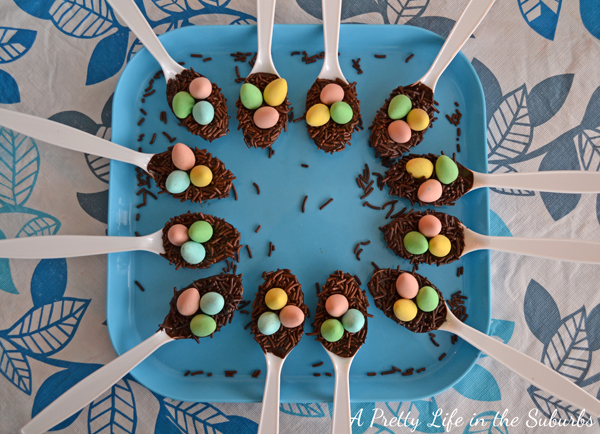 Chocolate Birds Nests for Easter