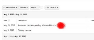 automatic pending payment adsense