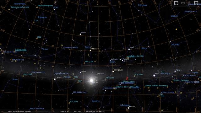 Stellarium 0.15.0 em execução
