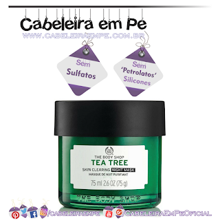 Máscara De Tratamento Noturna Anti-imperfeição Tea Tree - The Body Shop (Sem Sulfatos, Sem Petrolatos e Sem Silicones)
