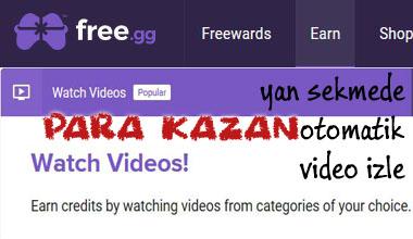 Free.GG video izle skin kazan 7/24 kazanç
