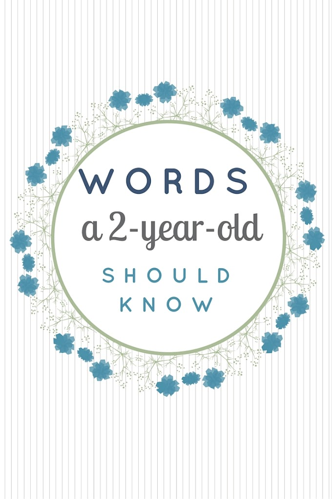 Words a 2-year-old should know (in English)