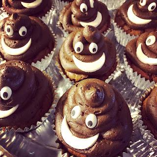Cupcakes, Schokolade, Poopemojis