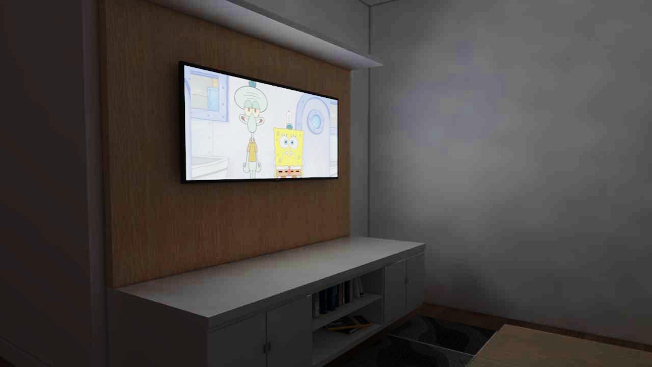 Membuat Layar TV Menyala di Vray Sketchup