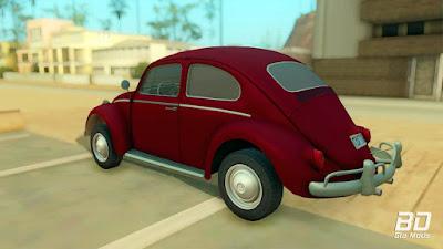 Download do mod do carro Volkswagen Fusca 1300CC 1964 para o jogo GTA San Andreas PC