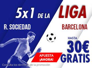 suertia promocion Real Sociedad vs Barcelona 15 septiembre