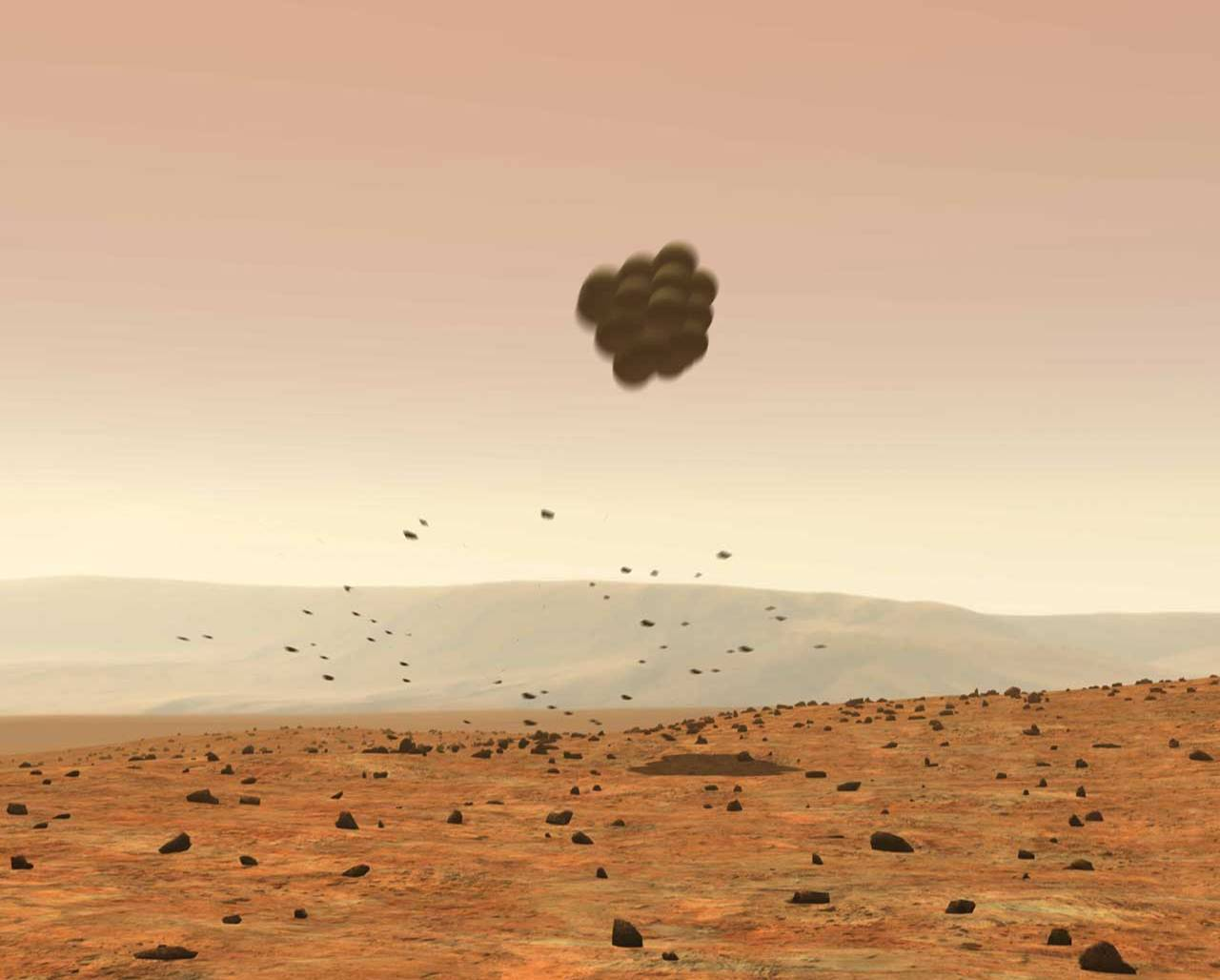 mars rover landing bouncing - photo #2