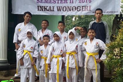 INKAI Karateka Wonogiri Adakan Kenaikan Sabuk Penurunan Kyu 2017 di Slogohimo