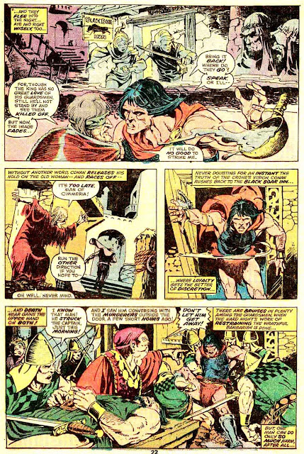Conan the Barbarian v1 #57 marvel comic book page art by Mike Ploog