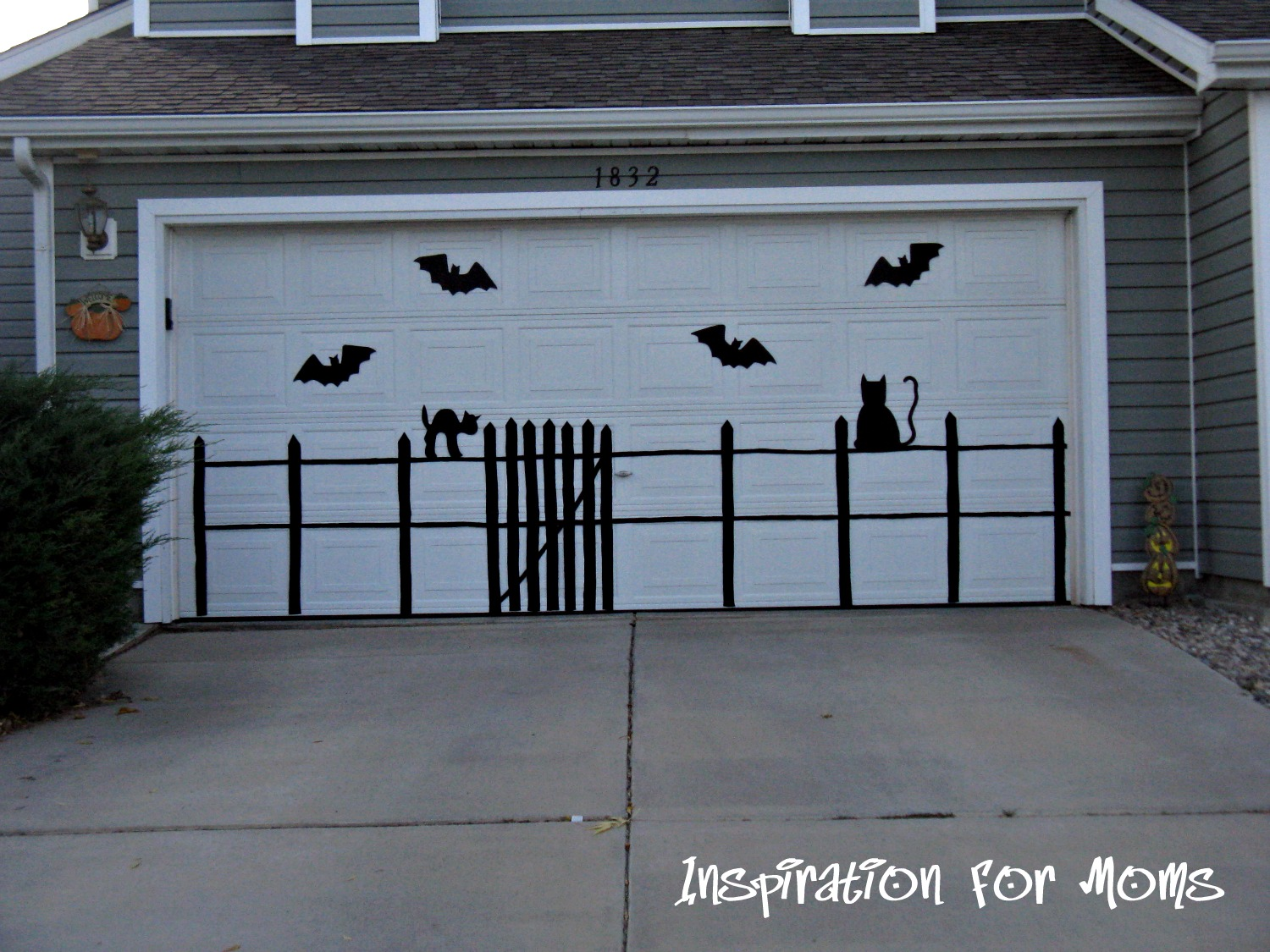 Eerie Outdoor Silhouettes Garage Door Magnets For The Halloween Holiday I  Wanted To Do Something Easy