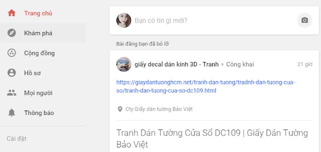 Trang chủ mạng xã hội Google +