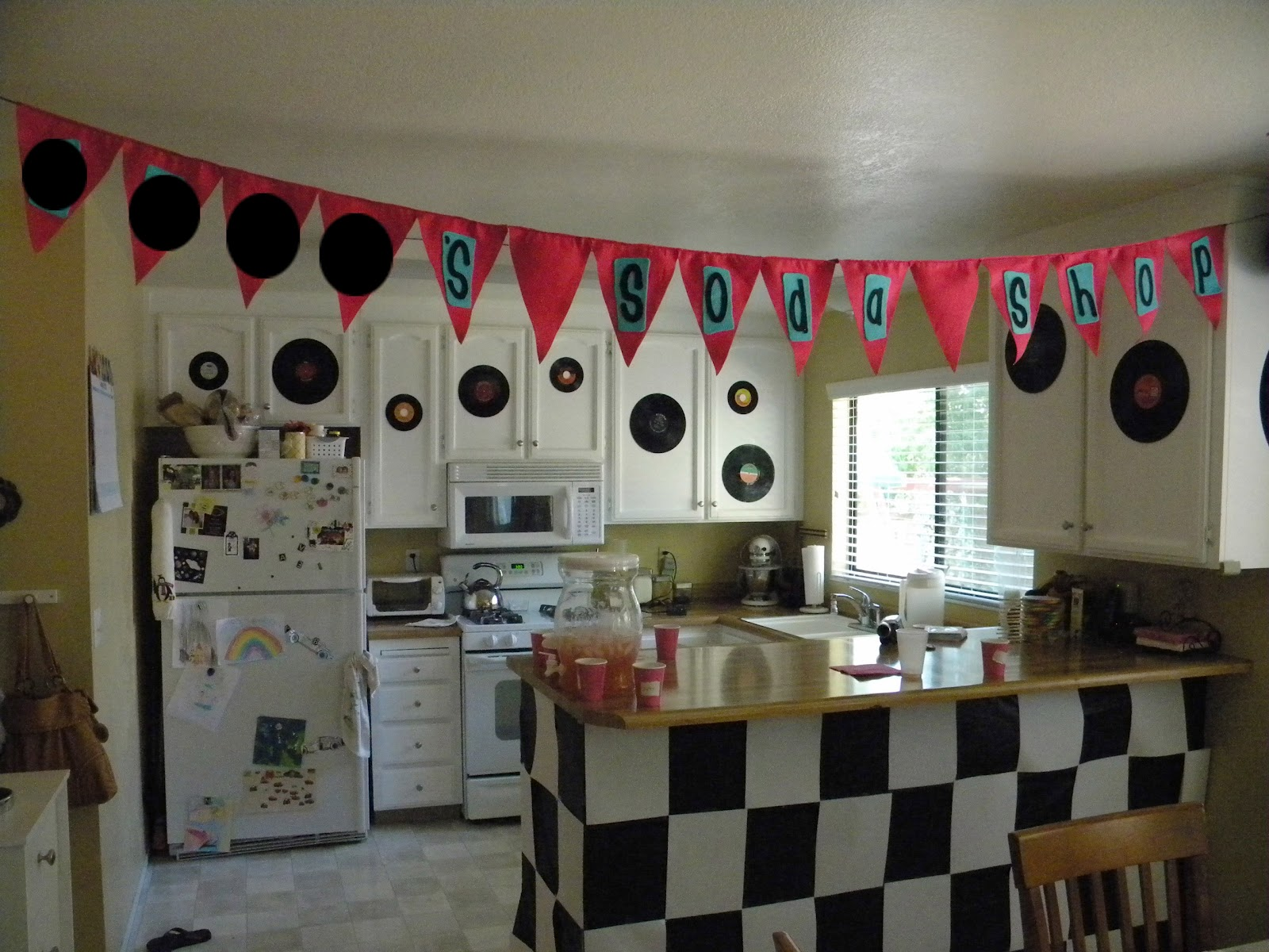 Just a frugal mom it 39 s a sock hop party for 60 s decoration ideas