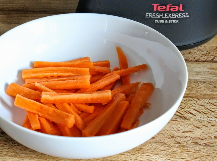 Carrot sticks in a bowl