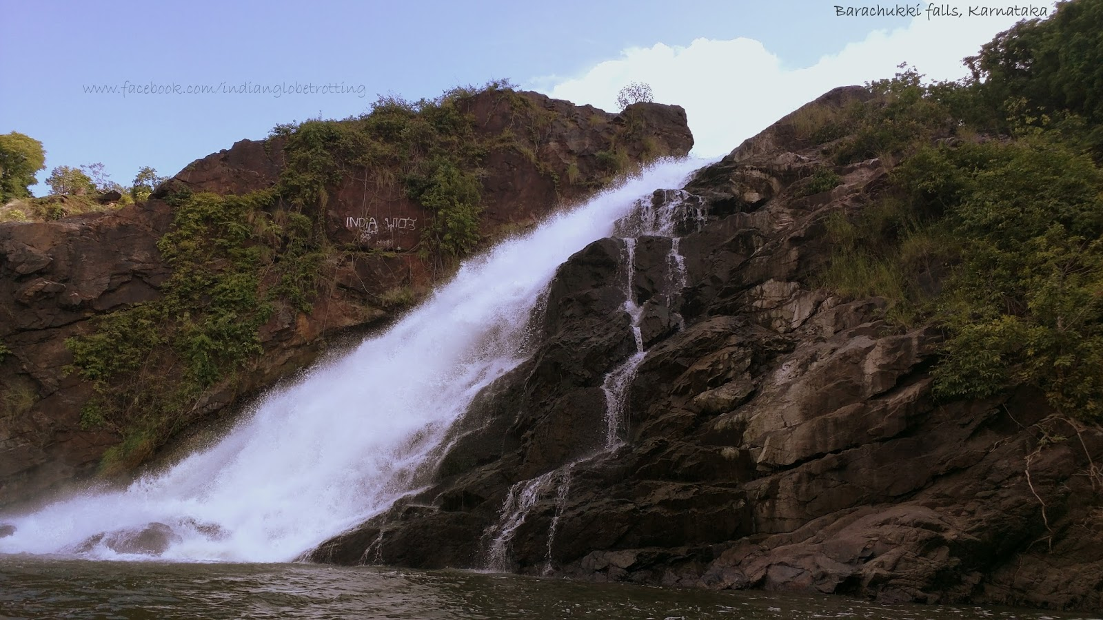 Barachukki Falls during a coracle ride