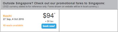Giá vé khuyến mãi Tiger Air bay đến Singapore