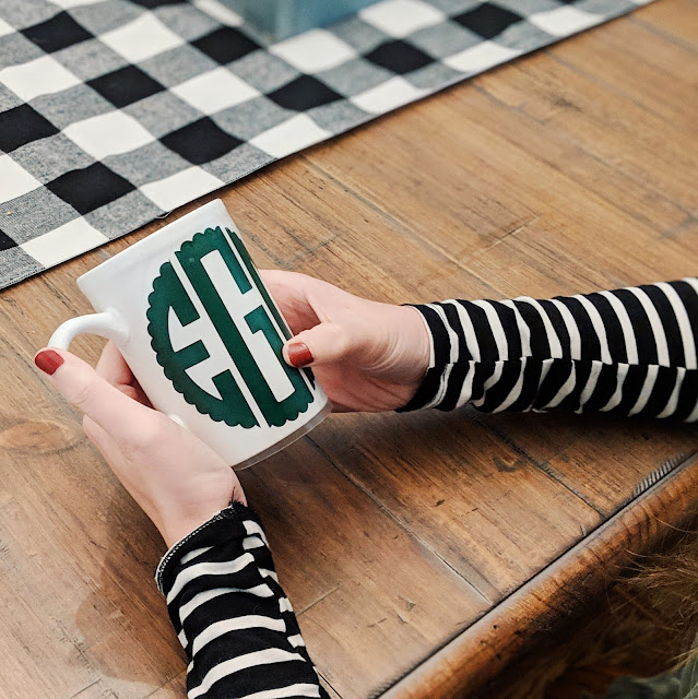 diy christmas gift monogram mug everyday emily blog greenville lifestyle blogger