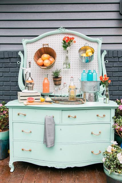 Móveis reciclados na decoração. Blog Achados de Decoração
