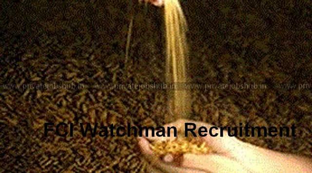 FCI Watchman Recruitment
