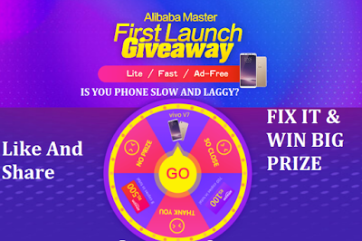 Alibaba Master First Launch Giveaway!! Win Free Big Prize