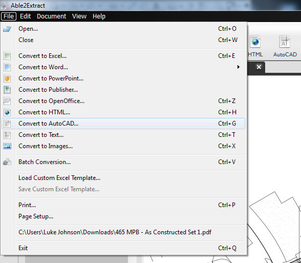 What Revit Wants: Tested: Using Able2Extract to convert PDFs