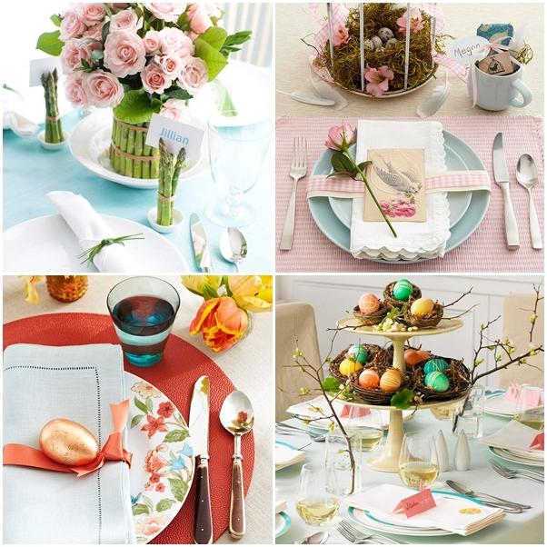 decoração mesa de almoço páscoa