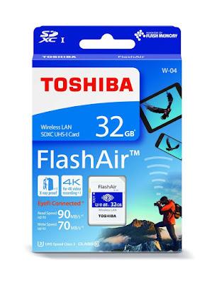 tarjeta SD wifi Flashair de Toshiba