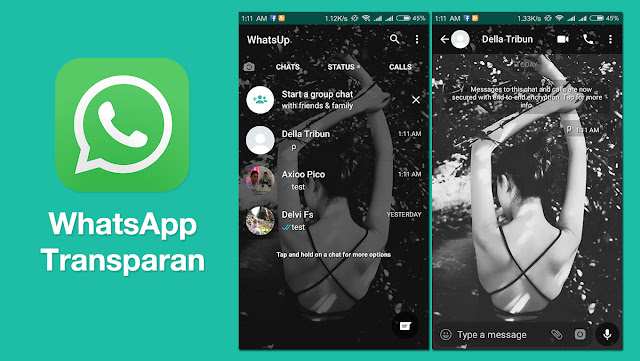 Download WhatsApp Transparan Terbaru 2018
