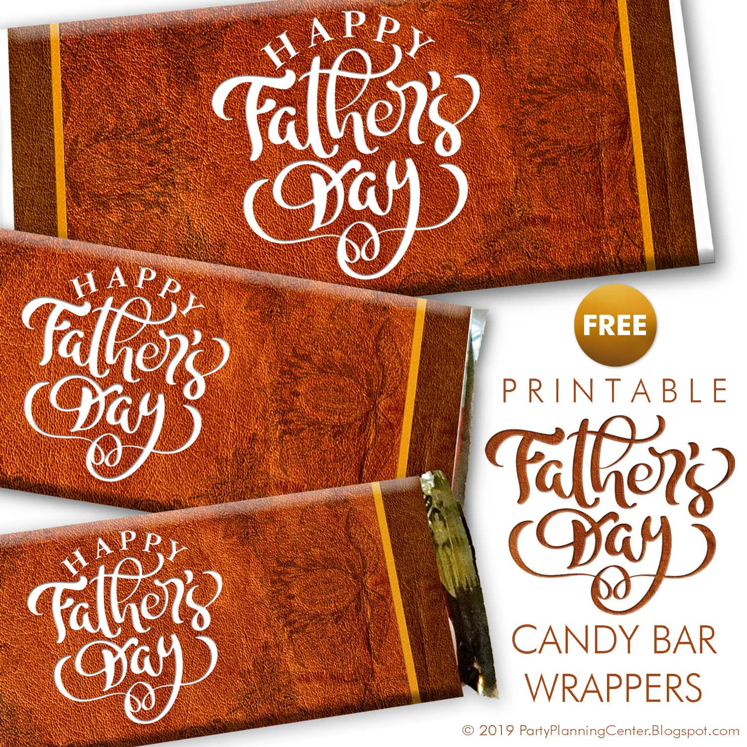 FREE Father's Day Chocolate Wrappers