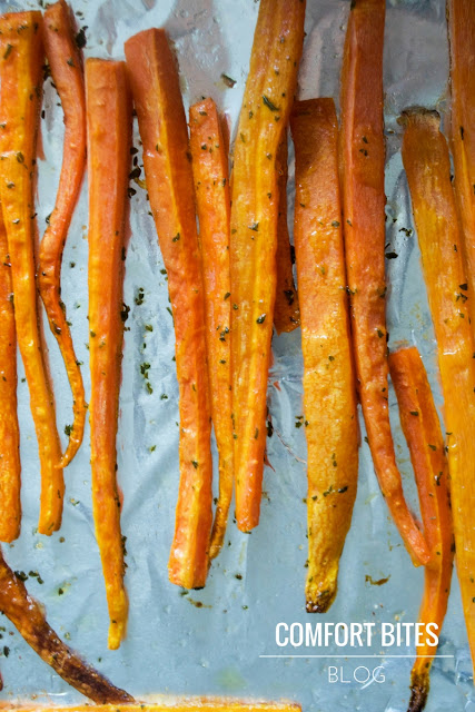 Garlic and Herb Carrot Fries Vegan Vegetarian Paleo AIP