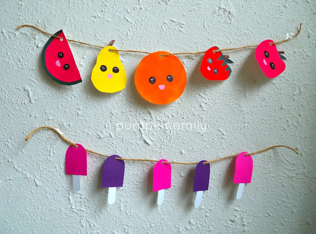DIY Fruit Garland and DIY Popsicle Garland