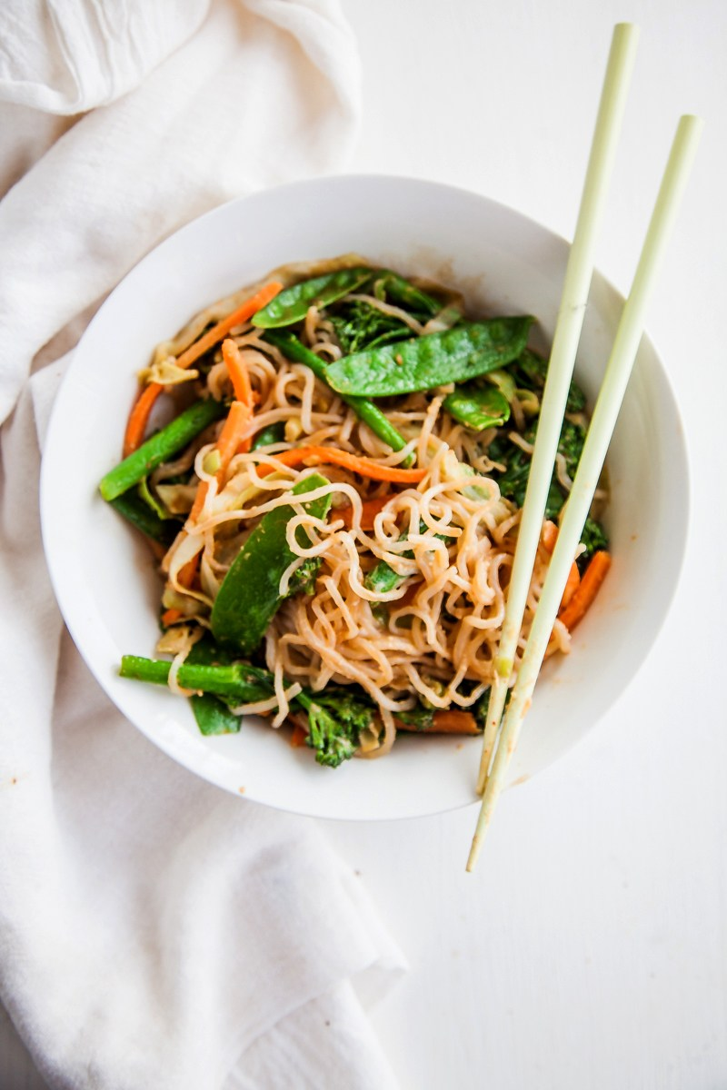 Shirataki Noodles With Almond Butter Sauce