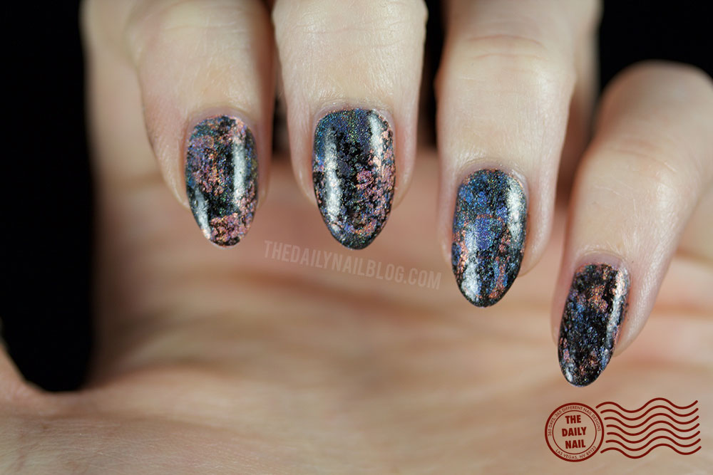 holo, nail art, water marble, the daily nail blog, halo hues