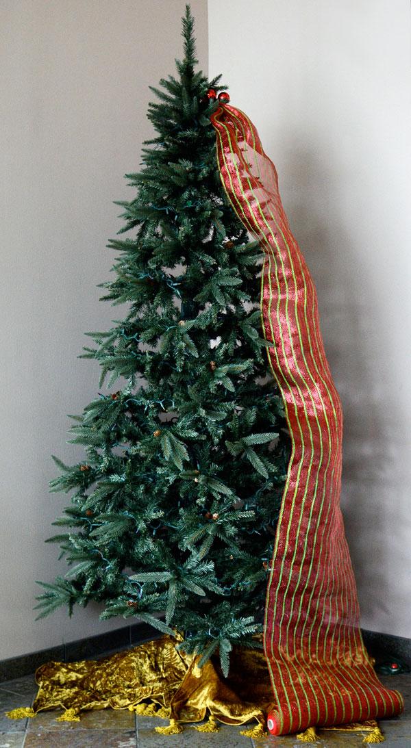 Como Decorar Un Hermoso Arbol De Navidad Con Mallas Lodijoella - Decoracion-arboles-de-navidad