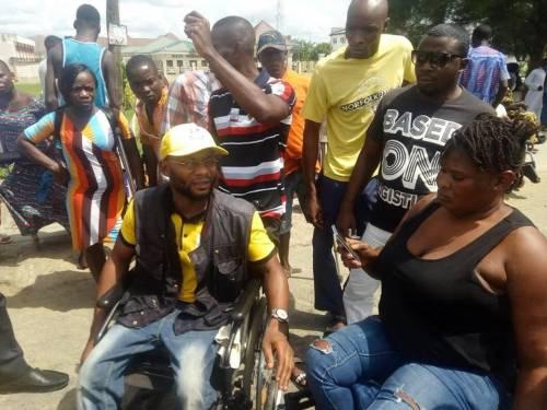 Physically Challenged Persons Shut Down Bayelsa