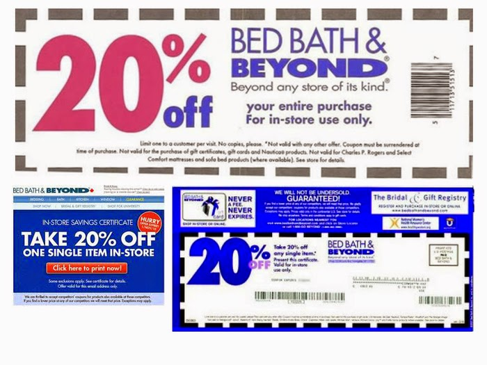 Bed Bath And Beyond Printable Coupon 2018 March Thanksgiving Deals