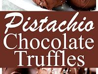 Salted Pistachio Dark Chocolate Truffles Recipe