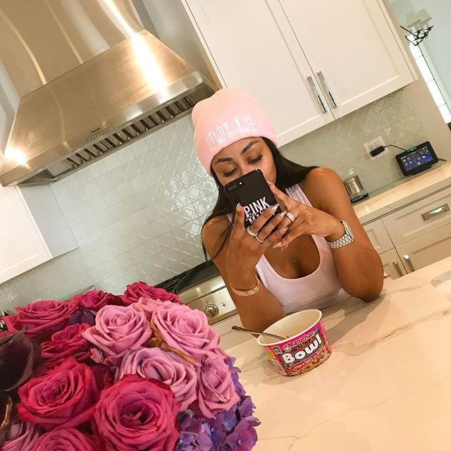 Model Blac Chyna Shares Selfie on Instagram