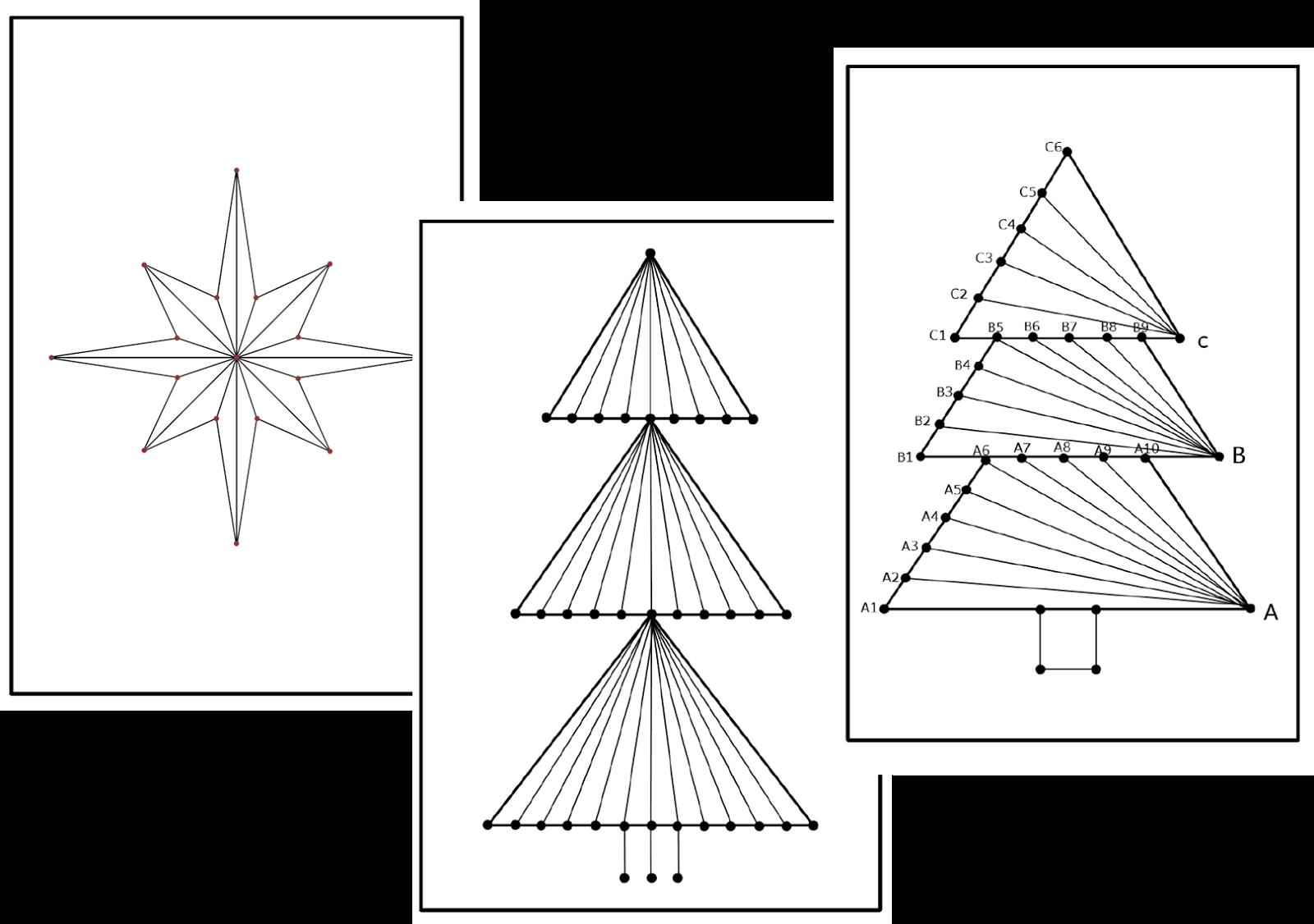 hasenklasse geometrisches sticken zu weihnachten