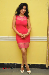 Telugu Actress Vijaya Murthy Stills in Red Short Dress at Www.Meena Bazaar Movie Opening  0103.JPG