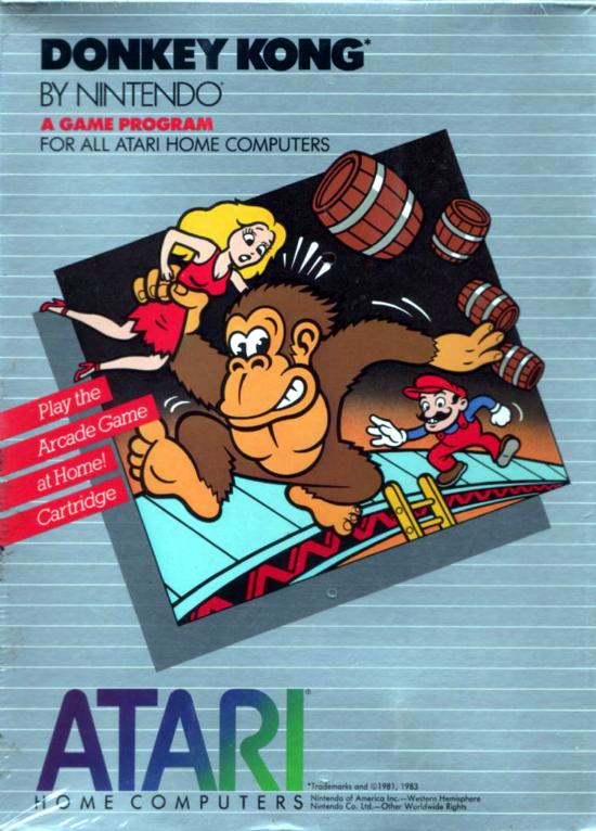 Atari Donkey Kong 1983 front