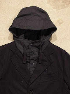 "Engineered Garments ""Chester Coat in Dk.Navy 20oz Melton"""